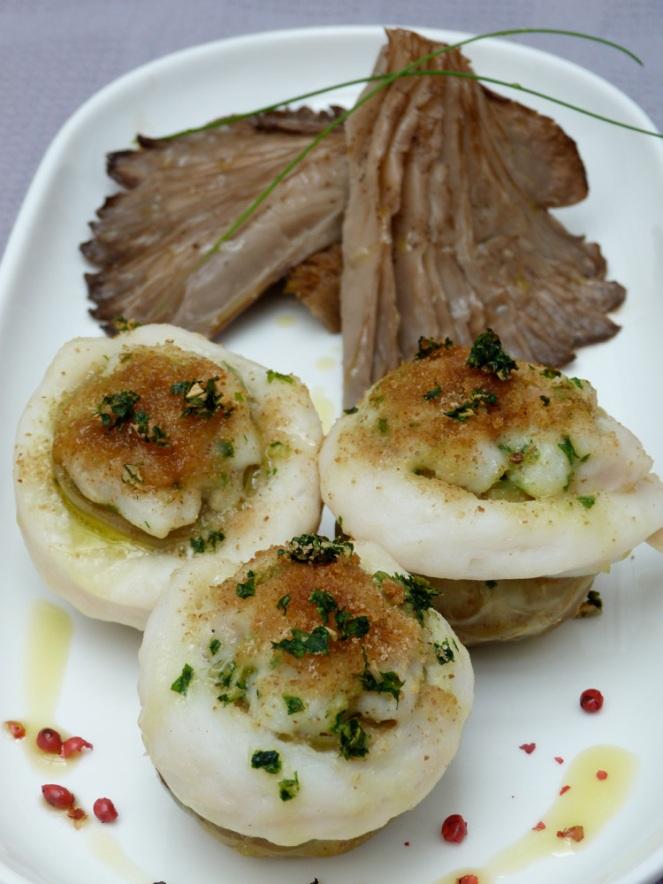 Carxofes farcides de peix