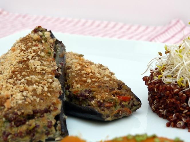 Albergínies verdura i quinoa1