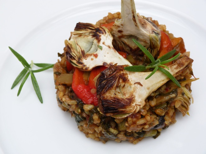 Paella de verdures