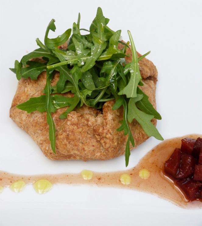 Galette d'espinacs i formatge de cabra