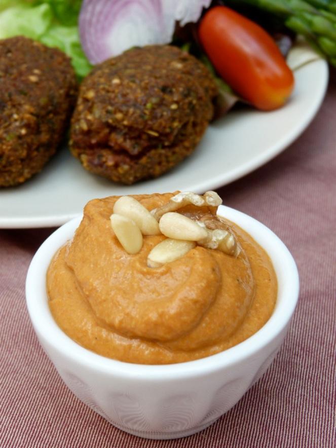 falafels amb salsa muhammara