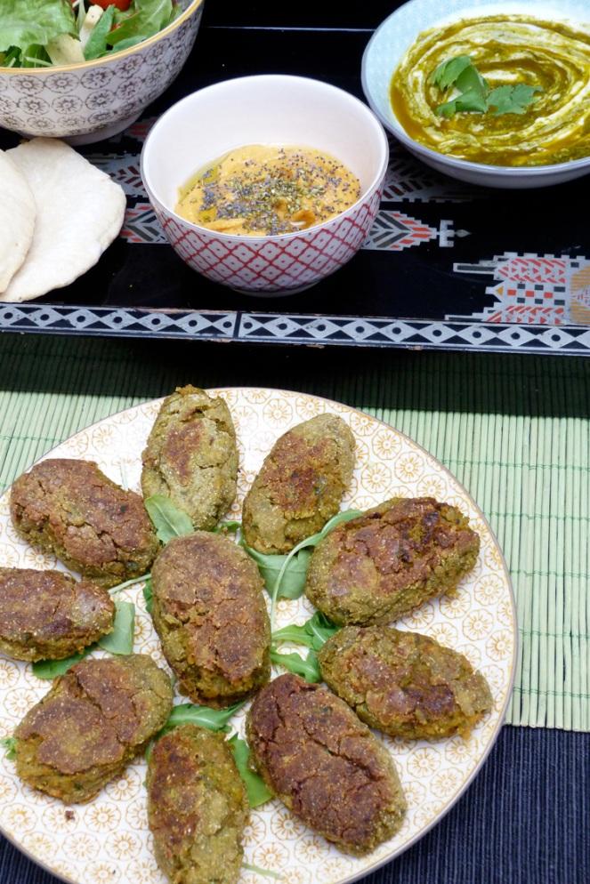 falafels de carabassa i salsa chermoula
